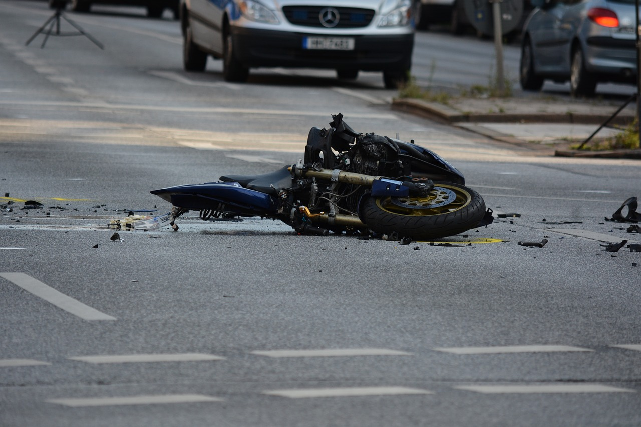 motorcycle, accident, road